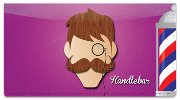 Mustache Checkbook Cover