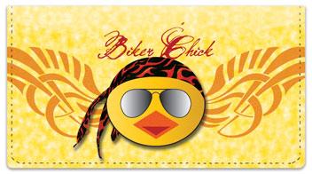 Biker Chick Checkbook Cover
