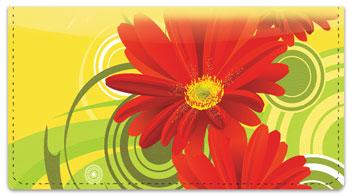 Petal Power Checkbook Cover