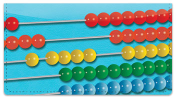 Abacus Checkbook Cover