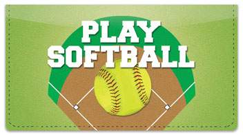 Softball Checkbook Cover