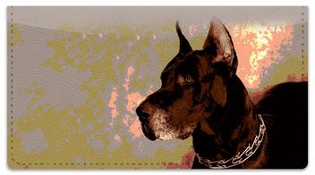 Dog Portrait Checkbook Cover