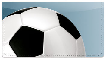 Classic Soccer Ball Checkbook Cover