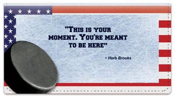 Herb Brooks Checkbook Cover