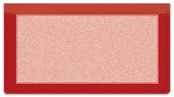 Red Sponge Pattern Checkbook Cover
