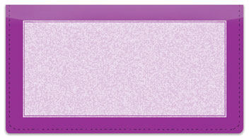 Purple Sponge Pattern Checkbook Cover