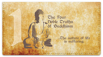 Four Noble Truths Checkbook Cover