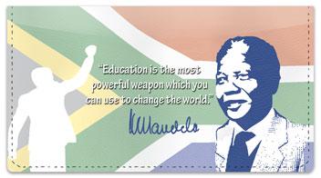 Nelson Mandela Checkbook Cover