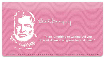 Ernest Hemingway Checkbook Cover