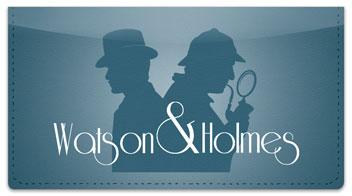 Sherlock Holmes Checkbook Cover