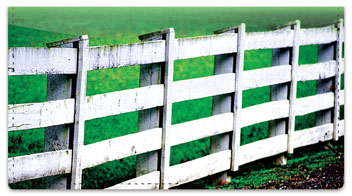 Country Fence Checkbook Cover