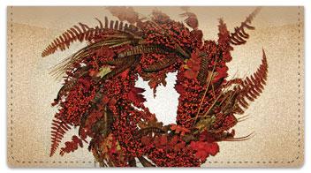 Autumn Wreath Checkbook Cover