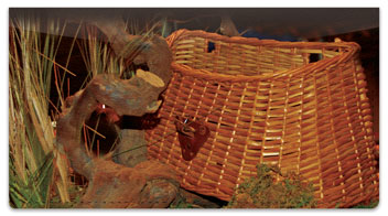 Fish Basket Checkbook Cover