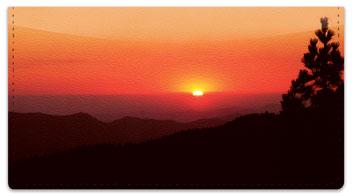 Sunrise Checkbook Cover