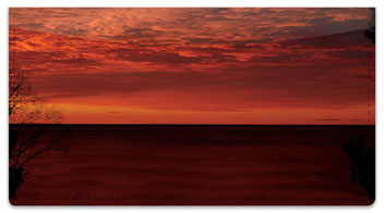 Scenic Sundown Checkbook Cover