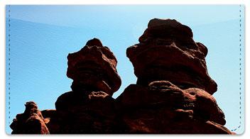 Colorado Red Rocks Checkbook Cover