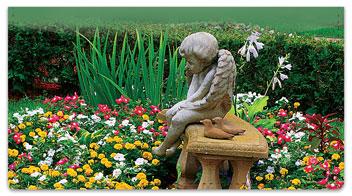 Peaceful Garden Checkbook Cover
