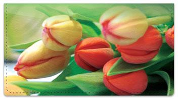 Tulip Checkbook Cover