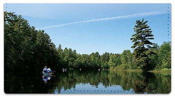 Canoeing Checkbook Cover