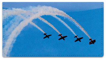 Airplane Aerobatics Checkbook Cover