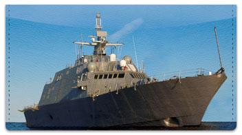 Ship Checkbook Cover