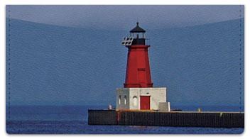 Pier Lighthouse Checkbook Cover