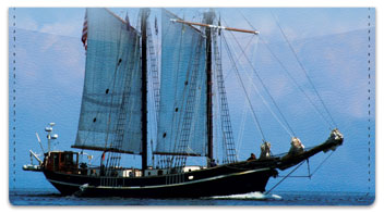 Tall Ship Checkbook Cover
