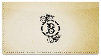 B Monogram Checkbook Cover