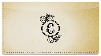C Monogram Checkbook Cover