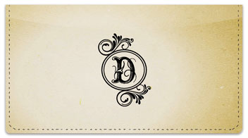 D Monogram Checkbook Cover