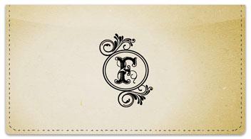 F Monogram Checkbook Cover