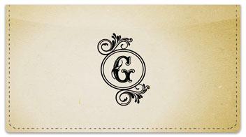 G Monogram Checkbook Cover