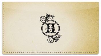 H Monogram Checkbook Cover