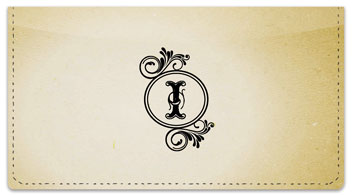 I Monogram Checkbook Cover
