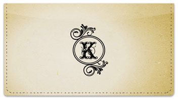 K Monogram Checkbook Cover