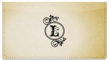 L Monogram Checkbook Cover
