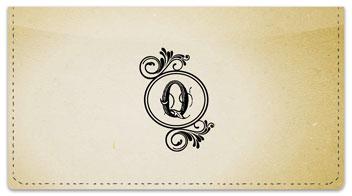 Q Monogram Checkbook Cover