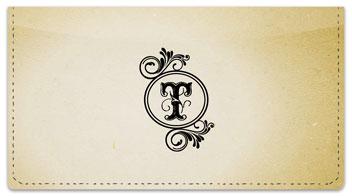 T Monogram Checkbook Cover