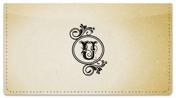 U Monogram Checkbook Cover