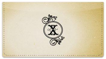 X Monogram Checkbook Cover