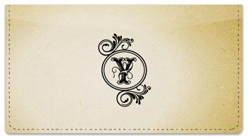 Y Monogram Checkbook Cover