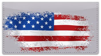 American Flag Checkbook Cover