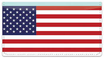 US Flag Checkbook Cover