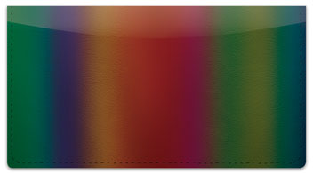Rainbow Wave Checkbook Cover