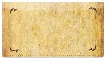 Aged Parchment Checkbook Cover