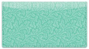 Green Leaves Checkbook Cover