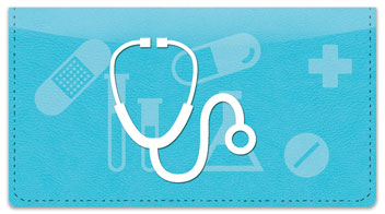 Medical Icon Checkbook Cover
