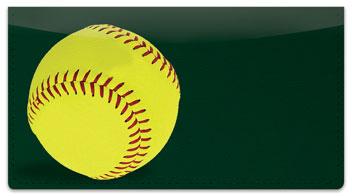 Classic Softball Checkbook Cover