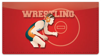 Wrestling Checkbook Cover