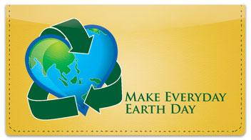 Earth Day Checkbook Cover